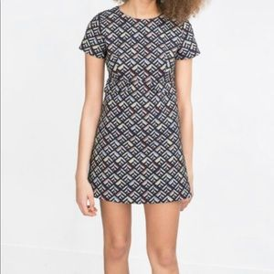 ZARA Geometric Jacquard Skort Shorts Dress NWOT